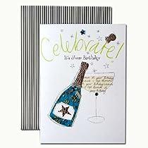 バースデーカード 「フルーティー」 07 シャンパン・ボトル