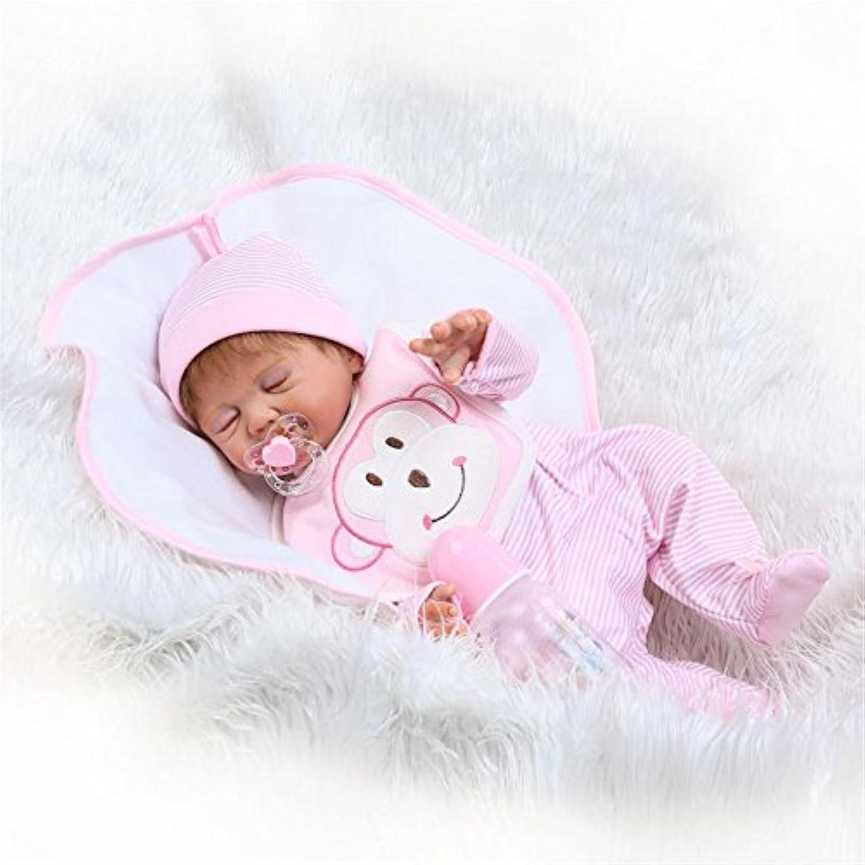 Sleeping解剖学的に正しいガールRebornベビー人形フルボディシリコンリアルな20インチ磁気おしゃぶりKids Bath Toysハンドメイドまつげヘア