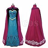 アナと雪の女王 エルサ コロネーション ドレス ワンピース コスプレ衣装 (女性L)