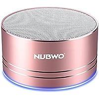 ブルートゥーススピーカー、Nubwo ワイヤレス ポータブル コンパクト Compact Bluetooth Speaker ミニスピーカー、5時間再生、ハンズフリーコール可能 高音質 3Wドライバー、AUXライン、TFカードスロット付き マイク内蔵 iPhone、iPod、iPad、Samsung、Sony、LGなどに対応(ローズゴールド)