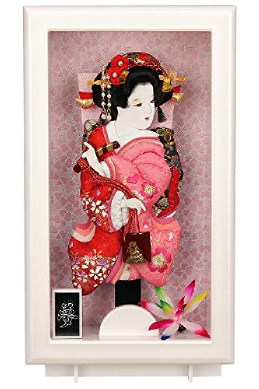 羽子板 ケース飾り 額飾り 夢 9号 パールホワイト スタンド付 h301-fz-2c61-aa-014