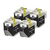 ブラザー用 LC3119 LC3119BK ブラック 4本セット 大容量 互換インクカートリッジ 大容量 対応機種:Brother MFC-J6980CDW/ MFC-J6580CDW 残量表示対応 ICチップ