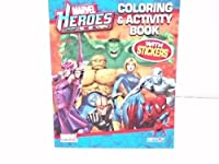 Marvel Heroes Coloring & Activity Book ~ Withステッカー