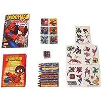 MarvelスパイダーマンアクティビティGiftセット~ web-slinging Super Hero ( Giantアクティビティパッド、ステッカー、パズルキューブ、テンポラリータトゥー、Journal with Velcroタブ、クレヨン; 6 Items、1バンドル)