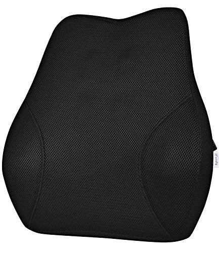 iCoudy ランバーサポート 低反発クッション 腰まくら 腰痛対策 骨盤サポート 姿勢矯正 猫背 背当て 背もたれ 健康クッション 車 椅子 ドライブ オフィス用