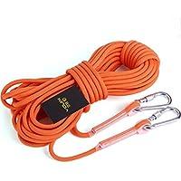 クライミング ローブ 登山 高強度ロープ 9.5mm 収納袋付き アウトドア キャンプ 登山補助ロープ カラビナ2つ