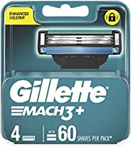 Gillette Mach3+ Replacement Cartridges 4 Count,