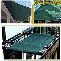 庭の日よけの帆75%日焼け止め、屋根の色合いの生地の長方形の濃い緑色、日よけ布の庭の日除け、中庭の絶縁材網、動物の家および中庭のプライバシーの塀のための頑丈な5x6m