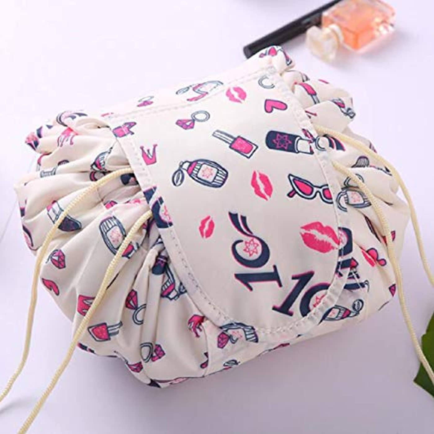 上へ凶暴な注釈Quzama-JS 満足新しい女性ユニコーン化粧品バッグニモロープロープ化粧品プロフェッショナルプロケースケース旅行rtifactラッカーバンドルバッグ