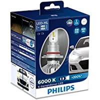 PHILIPS(フィリップス) ヘッドライト LED バルブ HB3 HB4 6000K 3520lm 12V 22W エクストリームアルティノン X-treme Ultinon 車検対応 3年保証 2個入り 11005XUX2