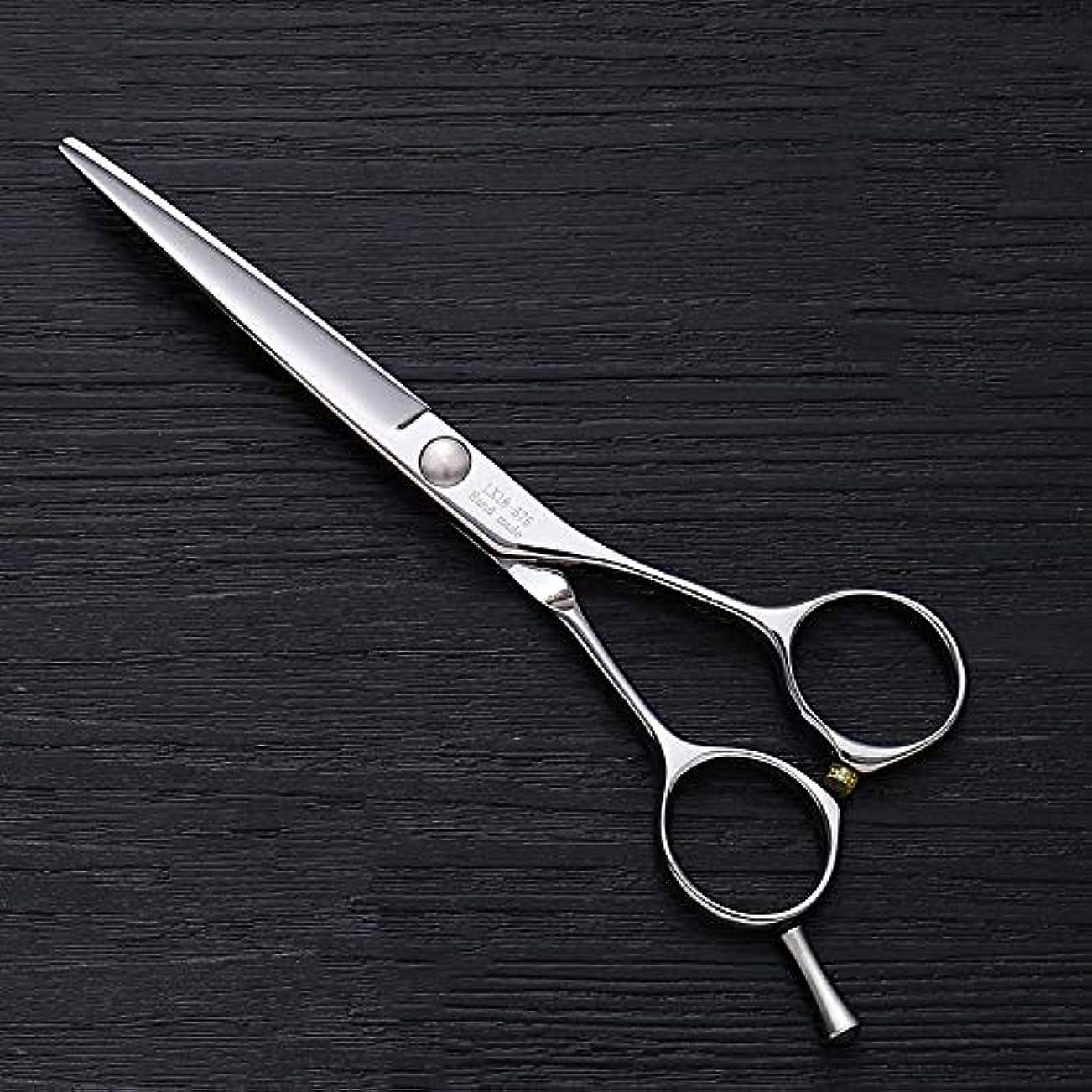 モルヒネみ記念品理髪用はさみ 5.5インチ理髪はさみ、ヘアスタイリスト特別な単語カット平せん断ヘアカットはさみステンレス理髪はさみ (色 : Silver)