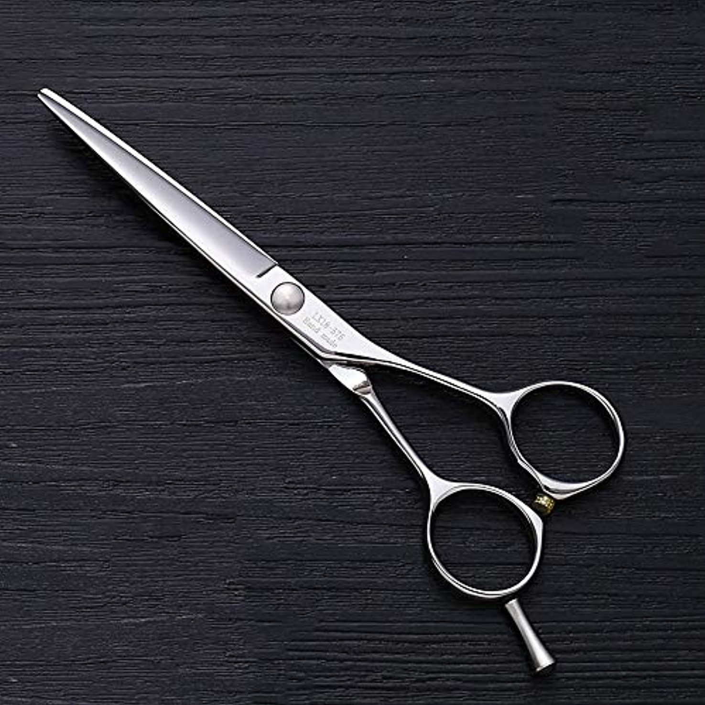 土打撃対称理髪用はさみ 5.5インチ理髪はさみ、ヘアスタイリスト特別な単語カット平せん断ヘアカットはさみステンレス理髪はさみ (色 : Silver)