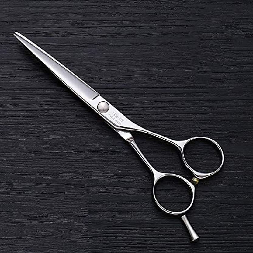 尋ねるリーダーシップまっすぐ5.5インチの理髪はさみ、ヘアースタイリスト特別なAワードカットフラットせん断はさみ ヘアケア (色 : Silver)