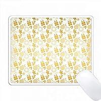 グランジの白い背景にゴールド効果クリスマスパターン PC Mouse Pad パソコン マウスパッド