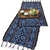 イカット(ロング) I 【インドネシアの飾り布、テーブルランナー タペストリー 壁掛け 箪笥の上掛け】 和風洋風を問わず便利に使えるインテリアクロス