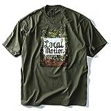 LOCAL MOTION(ローカルモーション) プリント半袖Tシャツ(LOCALLY GROWN) smt-4417 大きいサイズ メンズ[並行輸入品]【308.オリーブ-3XL】