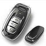 [NextBlue] アウディ Audi 専用 スマートキーケース リモコン キーカバー A4 S4 Q5 (ブラック)