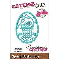 Cottagecutz Elites Die-Spring Basket Egg 1.6x2.2 by CottageCutz