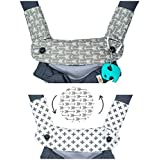 Premium 2 Packs Drool and Teething Reversible Cotton Pad - Fits Ergobaby Four Position 360 and Most Baby Carrier - Gray Arrow