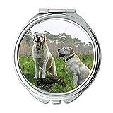 ミラー、メイクアップミラー、ラブラドール繁殖犬動物動物、ポケットミラー、携帯用ミラー