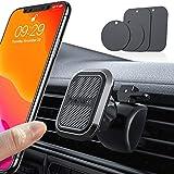 【独創6個磁石】 VANMASS 車載ホルダー マグネット スマホホルダー 車 スマホスタンド 携帯 スマートフォン 360度回転 落下防止 片手脱着 超安定 取り付け簡単 iphone11 pro 全機種対応(エアコン式)