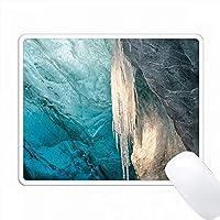 氷河洞窟、アイスランド、ブライダマークルジョーク氷河。 PC Mouse Pad パソコン マウスパッド