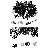 Fenteer 紙吹雪 ハッピーバースデー 誕生日おめでとう 番号「40」 紙吹雪 装飾