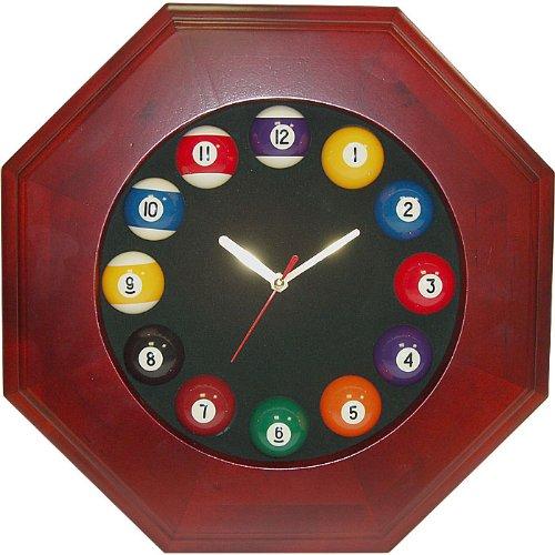 八角形の木製ビリヤードクォーツ時計...