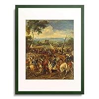 ピーテル・パウル・ルーベンス Peter Paul Rubens 「Henry IV. in the Battle of Arques. (Rubens & Pieter Snayers). 1628/30」 額装アート作品