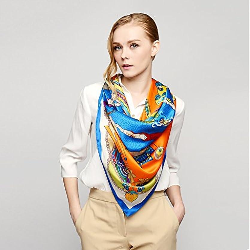 シロクマシチリア輝くGAODUZI シルクラージタオルサマーサンシルクショールワイルドスカーフスカーフスカーフ女性 ( 色 : A )