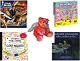 Girl's Gift Bundle - Ages 6-12 [5 Piece] - STAR WARS Jedi Unleashed Game - Creativity for Kids Shrinky Dinks Fun Deluxe - Pink Tye-dye Angel Bear Plush 10