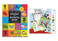 "Activity Books for Kids: ""First Steps"" Sticker & Learn-Play Activity Book (Paper Craft, 2 pack)"