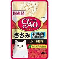 セット いなば CIAO(チャオ) 乳酸菌入り ささみ かつお節味 40g 3袋入り