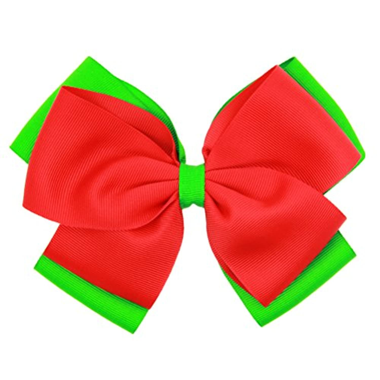 Zhhlinyuan Christmas Ribbon Bowknot Hairpin Kids Baby Girls Hair Clips ヘアアクセサリ for Photography Pops Costume Party