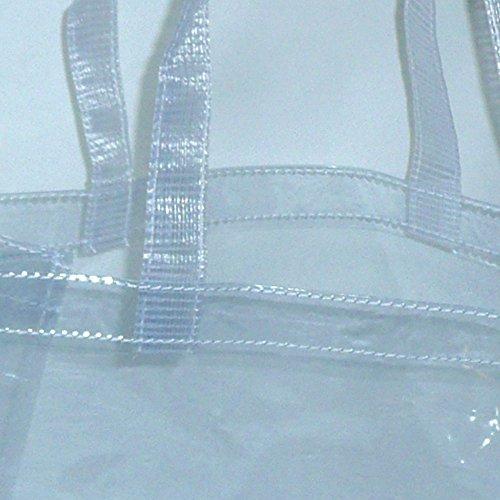 透明ビニールバッグ 舟形(約46(35底辺)×25×13cm)縫製加工