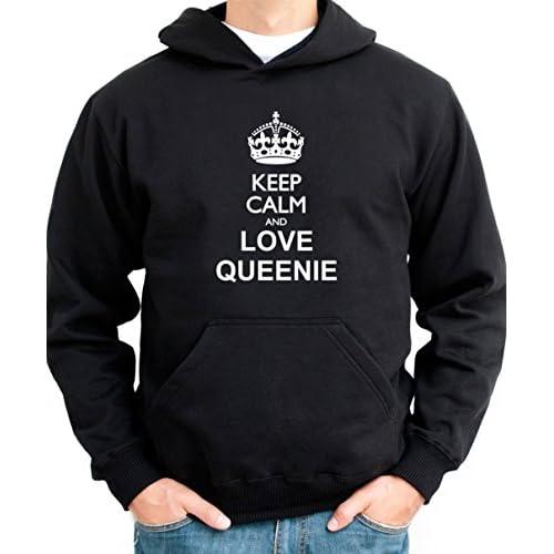 Keep calm and love Queenie メンズパーカー