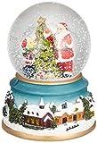 デコレーションサンタ 丸和貿易 スノードーム クリスマス 置物 オブジェ LED ライト&ミュージック