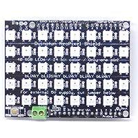 Duinofun NeoPixel Shield for Arduino - 5x8=40 RGB LED Pixel Matrix