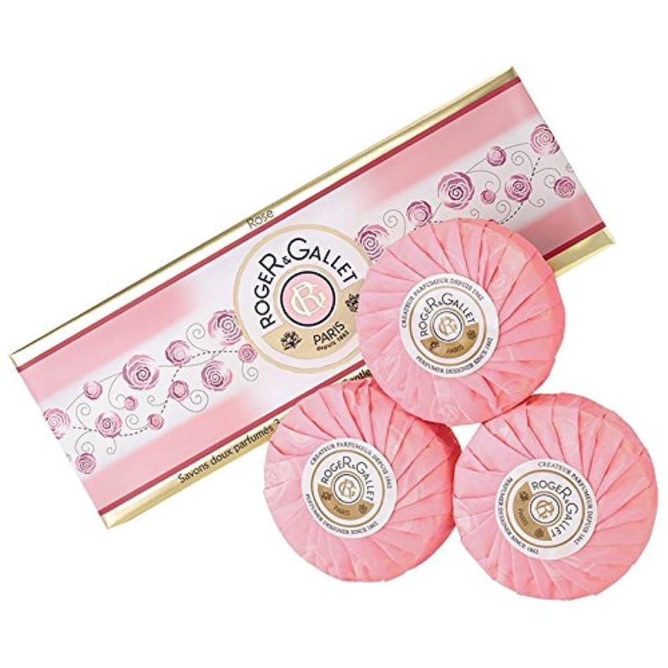 ロジャー&Galletのは石鹸コフレ3つのX 100グラムをバラ (Roger & Gallet) (x2) - Roger & Gallet Rose Soap Coffret 3 x 100g (Pack of 2)...