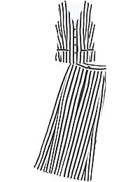 春夏 無袖チョッキ ガウチョパンツ カジュアル 着痩せ 普段着 通勤 OL フォーマル オフィス 上下 二点セット ファッションスーツ レディース