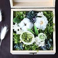 プリザーブドフラワー 枯れない花 アレンジ 花 お誕生日 お祝い 結婚祝い ギフト 開店 お返し 贈り物 カード付き JINGYS