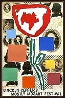 ポスター ドナルド バチェラー モストリー モーツァルト フェスティバル 1995年 限定800枚 額装品 ウッドハイグレードフレーム(オーク)