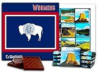 """DA CHOCOLATE キャンディ スーベニア """"ワイオミング"""" WYOMING チョコレートセット 5×5一箱 (Flag)"""