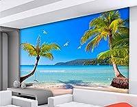 Bzbhart リビングルームの壁画の壁紙のための近代的な風景の壁紙壁画シービューツリー-450cmx300cm