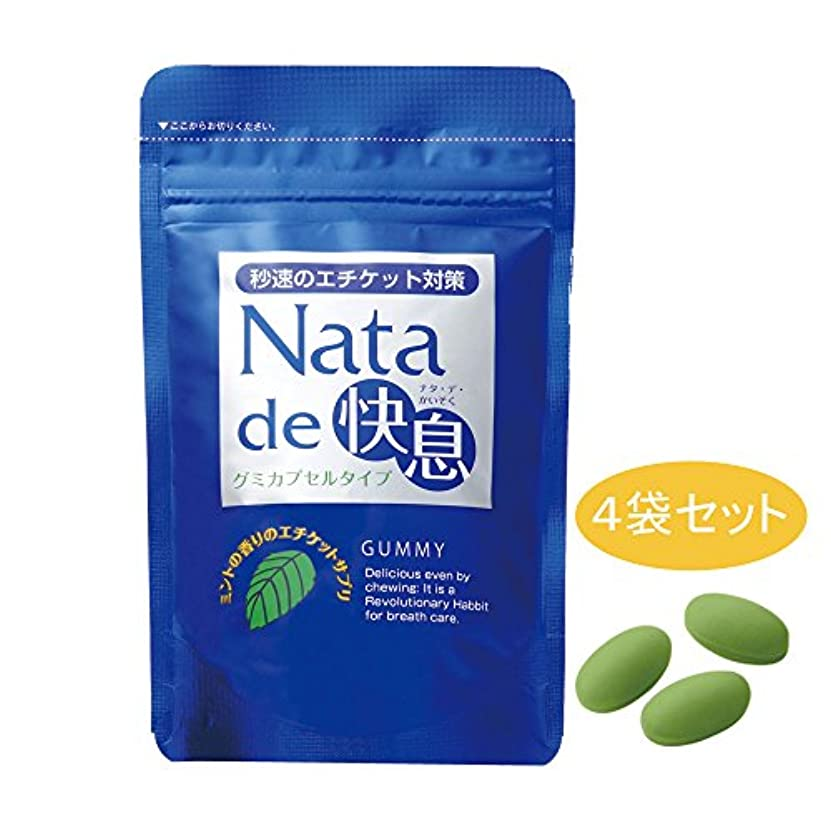 中絶満州放置ナタデ快息 ミントの香り 4袋セット