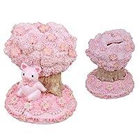 SAKURA COLLECTION レジン貯金箱 桜と豚・G-5874P