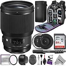 Sigma 85mm f/1.4 DG HSM Art Lens for Canon EF Cameras w/Sigma USB Dock & Advanced Photo and Travel Bundle