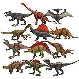 Better Stars リアル 恐竜 おもちゃ 12個セット フィギュア 子供向け 知育おもちゃ 古代 生物 爬虫類 PVC製 中実 長さ約18cm