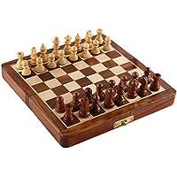 Zap Impex木製7インチ磁気折りたたみチェスset-magnet Closure