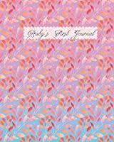 Baby's First Journal: A Pattern of Pink Leaves